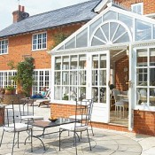 Consevatories made of uPVC are cheaper and just as robust as wooden framed ones.