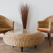 Various items of conservatory and outdoor furniture can be made from rattan.