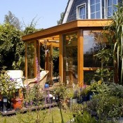 Considering the overall look of a property, a wooden conservatrive is often more appropriate.