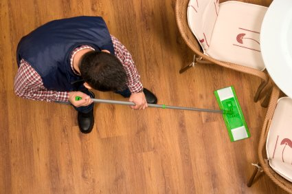 Some wooden flooring may need to be re-stained periodically to maintain their finish and protect the wood.