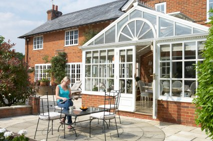 Edwardian style conservatories can also be constructed with wood or uPVC panelling as a base.
